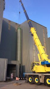 plaatsen nieuwe silo